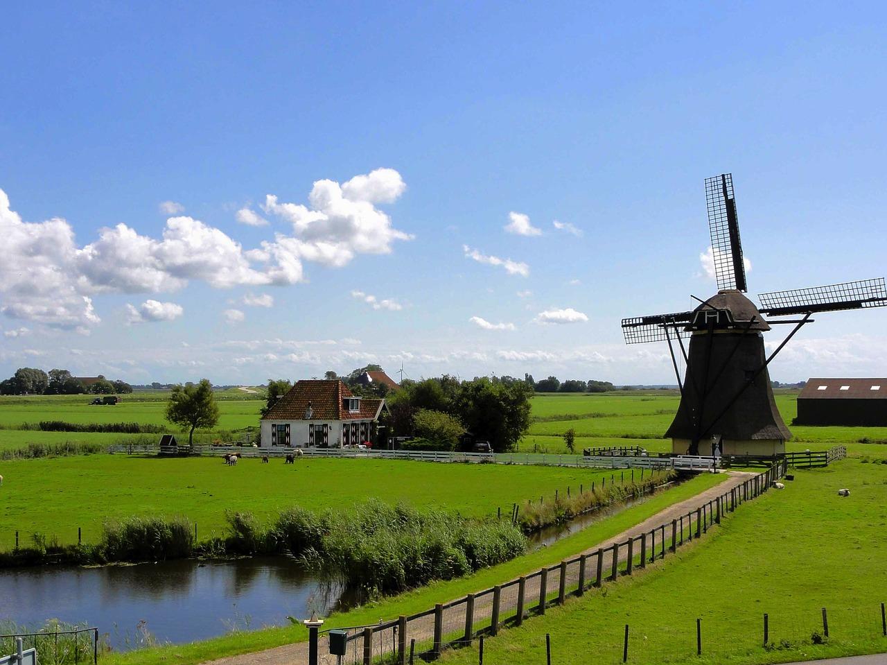 nederland landschap molentje, pixa